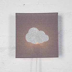 applique chambre enfant nuage gris