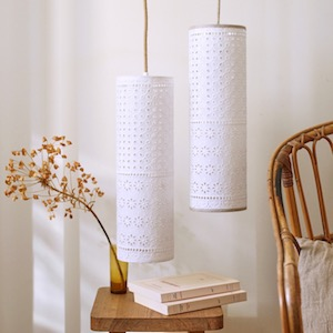 lampes baladeuses blanches romantiques
