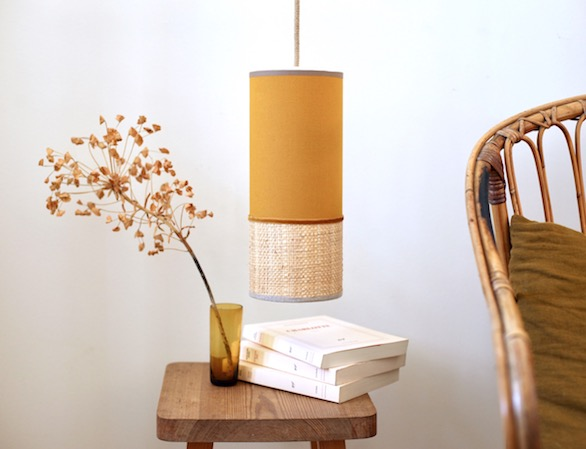lampe baladeuse rabane moutarde