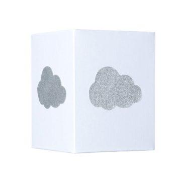 Lampadaire coton blanc nuage pailleté