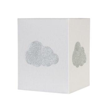 Lampadaire coton gris nuage argent pailleté