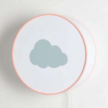 Applique blanche nuage gris pastel
