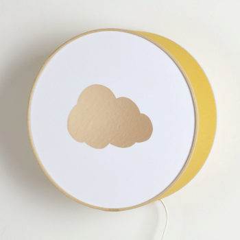 Applique moutarde nuage or