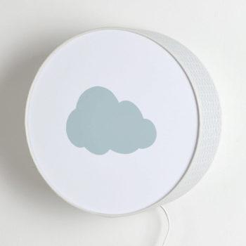 Applique vagues grises nuage gris pastel