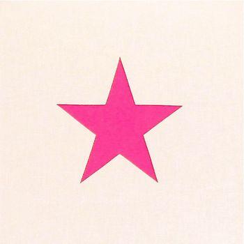 Lampe de chevet coton blanc étoile rose fluo