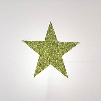 Plafonnier coton blanc étoile pailletée