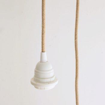 Suspension tube blanc cannage PM
