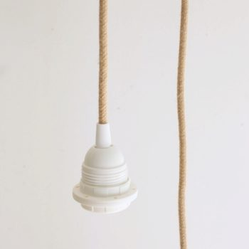 Suspension cylindrique blanc rafia 45