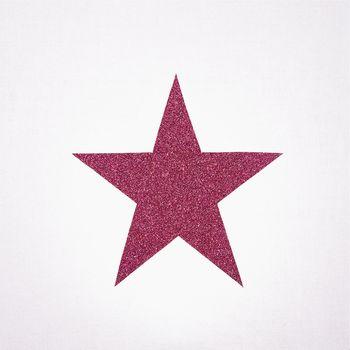Lampe à poser coton blanc étoile pailletée
