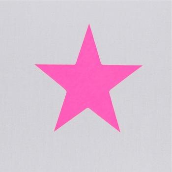 Lampadaire coton gris étoile rose fluo