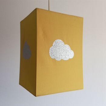 Plafonnier nuage argent pailleté