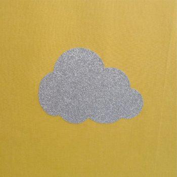 Lampadaire nuage argent pailleté