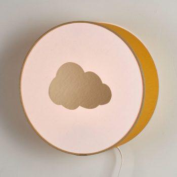 Lampe à poser ou à accrocher moutarde nuage or