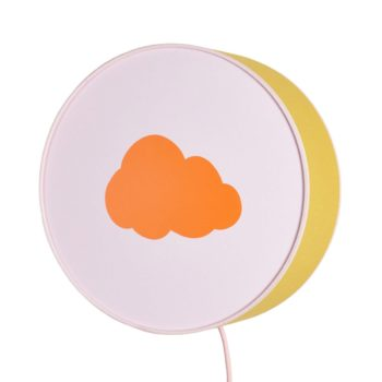Lampe à poser ou à accrocher moutarde et rose nuage orange pastel
