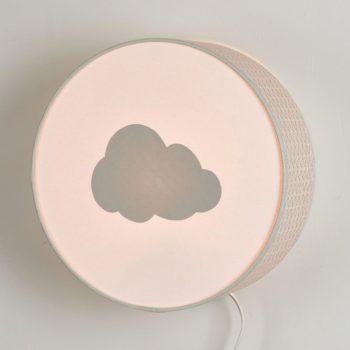 Lampe à poser ou à accrocher vagues grises nuage gris pastel