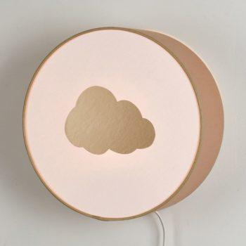 Lampe à poser ou à accrocher beige nuage or