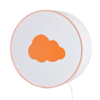 Applique blanche nuage orange pastel
