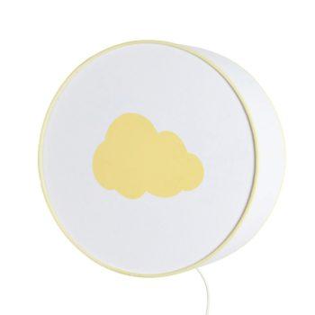 Lampe à poser ou à accrocher blanche nuage jaune pastel