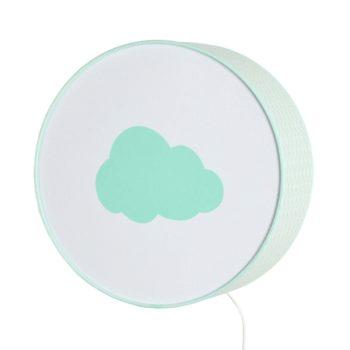 Lampe à poser ou à accrocher vagues vert pastel nuage vert pastel