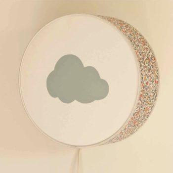 Lampe à poser ou à accrocher Liberty gris nuage gris