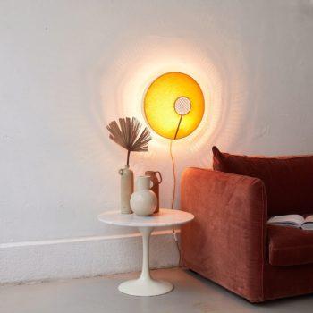 Lampe murale Audrey moutarde