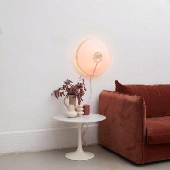 Lampe murale Audrey rose