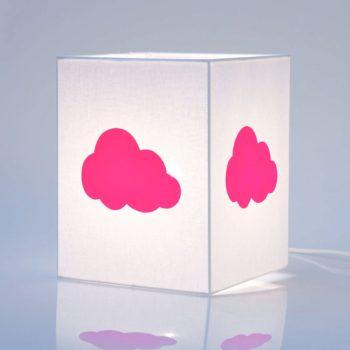 Lampe à poser coton blanc nuage fluo