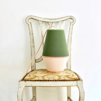Lampe à poser baladeuse Pop vert rose poudré