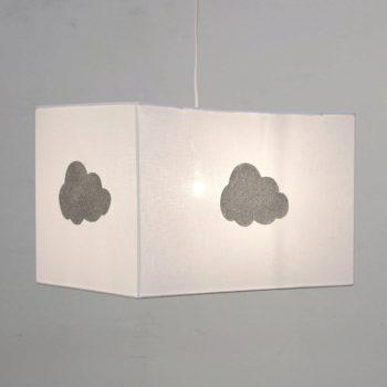 Plafonnier coton blanc nuage pailleté