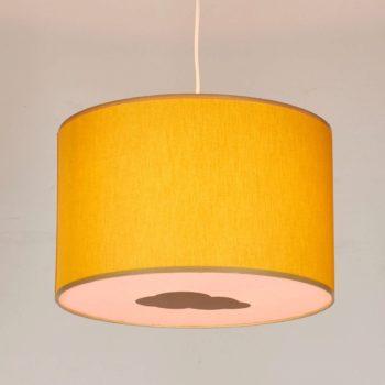Plafonnier moutarde et rose nuage or biais beige