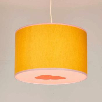 Plafonnier moutarde et rose nuage orange pastel