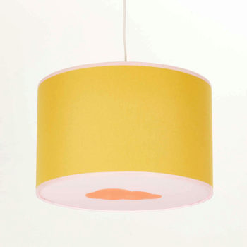Plafonnier moutarde et rose nuage orange pastel