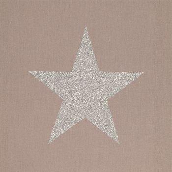 Lampe à poser coton taupe étoile pailletée
