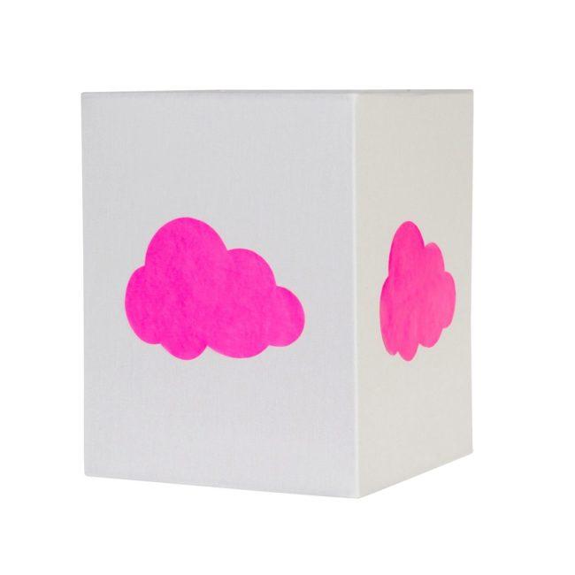 Lampadaire coton gris nuage fluo