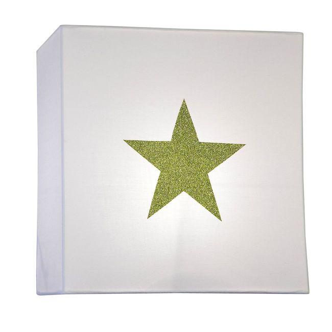 Applique coton blanc étoile pailletée