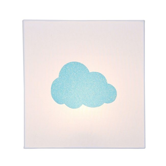 Applique coton blanc nuage pailleté