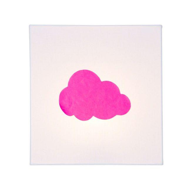 Applique coton blanc nuage fluo