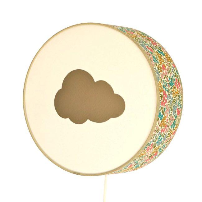 Applique Liberty vert nuage doré