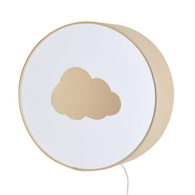 Applique beige nuage or