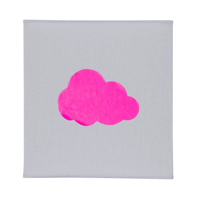 Applique coton gris nuage fluo