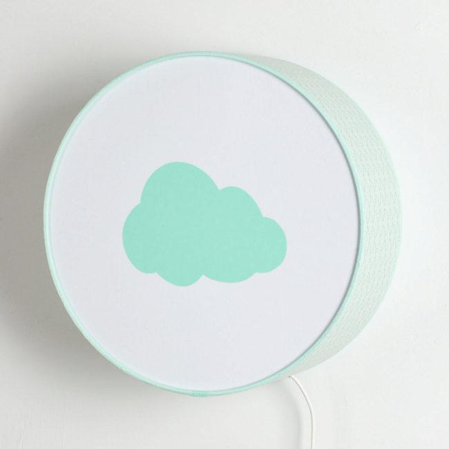 Applique vagues vert pastel nuage vert pastel