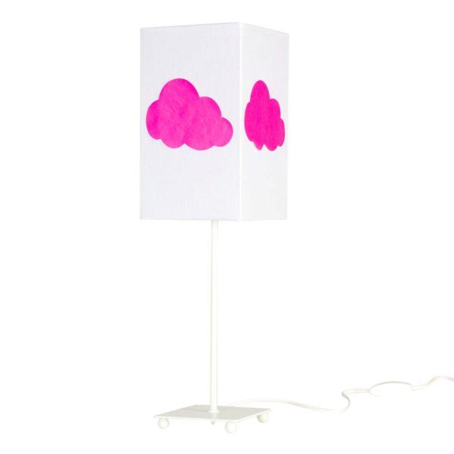 Lampe de chevet coton blanc nuage fluo