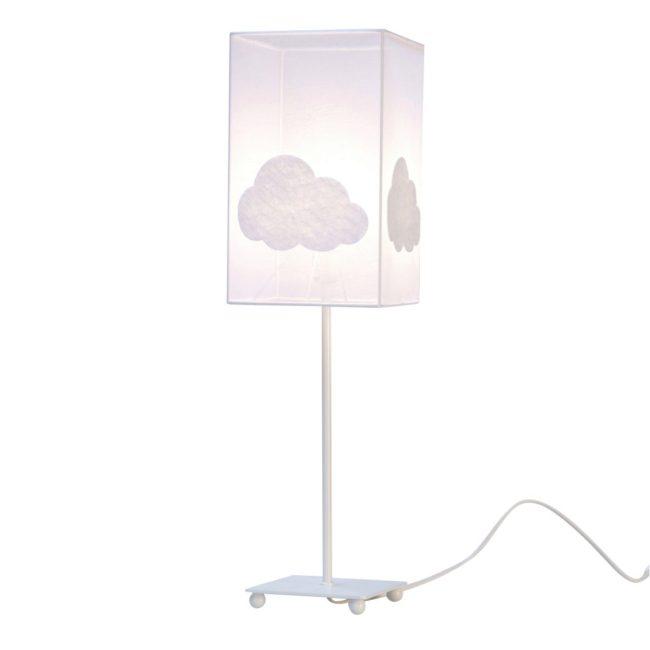 Lampe de chevet organdi nuage