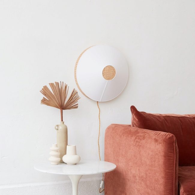 Lampe murale Audrey blanc