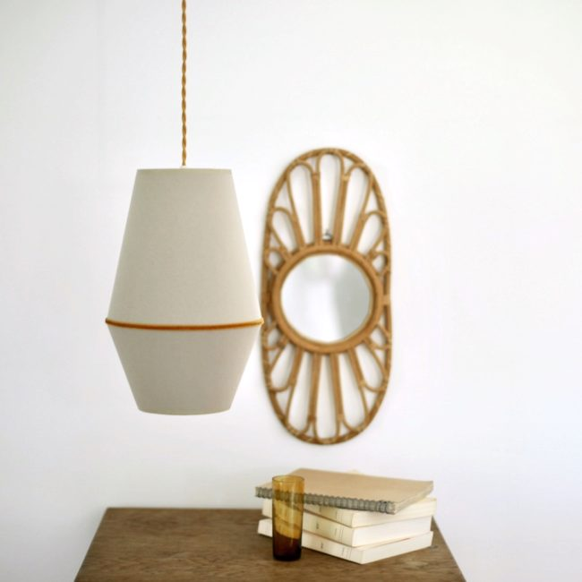 Suspension Louison beige